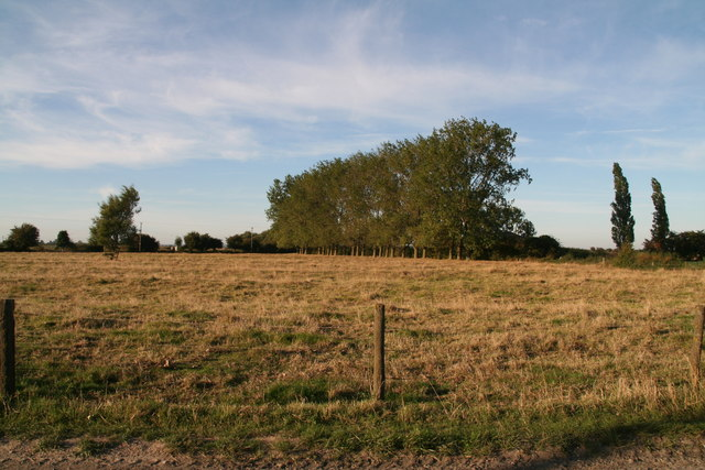 Ridge and furrow field next to the railway crossing