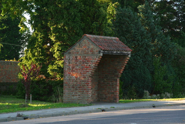 Bus shelter on the A16 at Sibsey