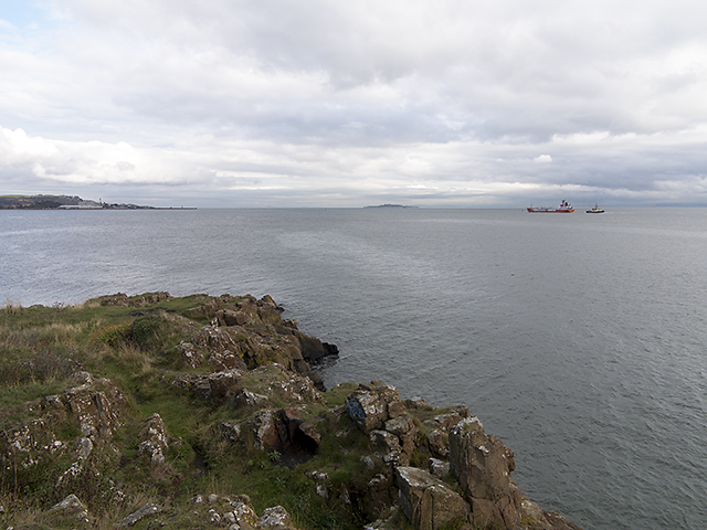 View over Hawkcraig Point