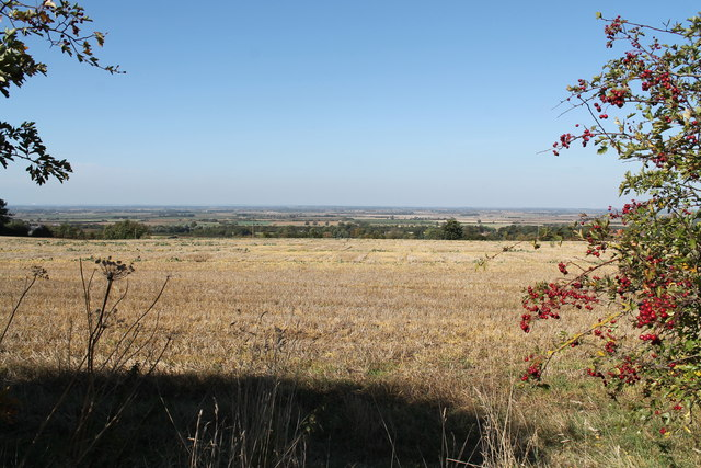 View towards Welbourn over the fields