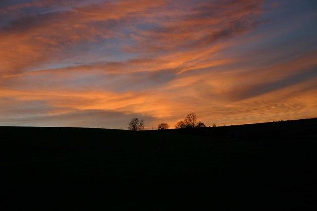 Sunset over Houghton Hill