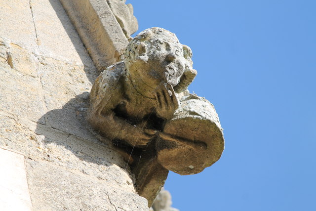 Gargoyle with drum, St Peter's church