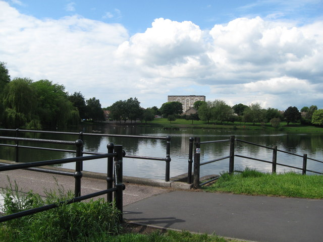 Witton Lakes view from the dam-Birmingham