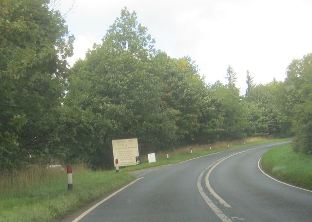 Entrance to Helme Park Hall Hotel off the A68