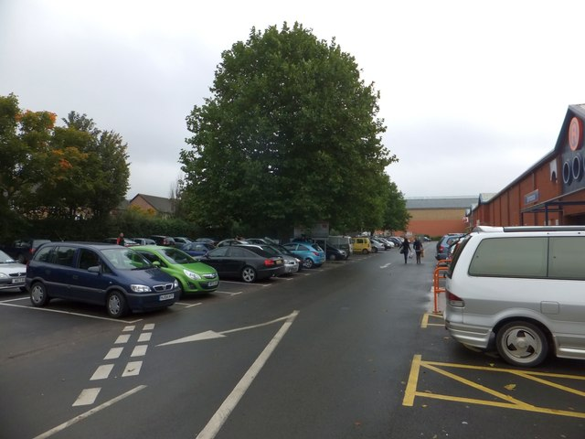 Shoppers' car park on Water Lane, Exeter
