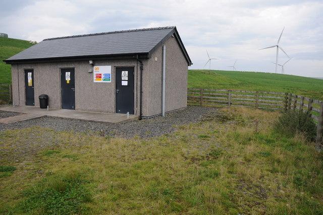 Building on Mynydd Clogau Windfarm