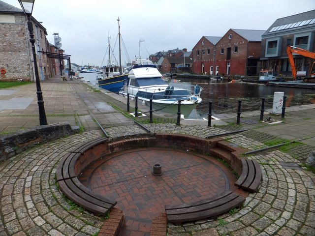 Site of canalside turntable, Exeter Canal