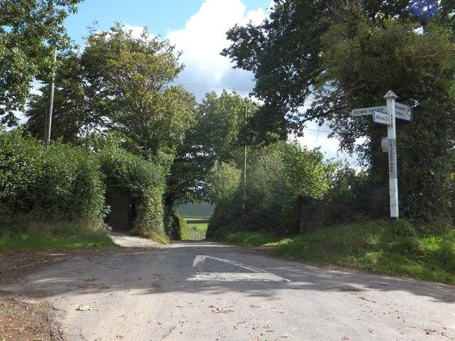 Crosspark Cross road junction