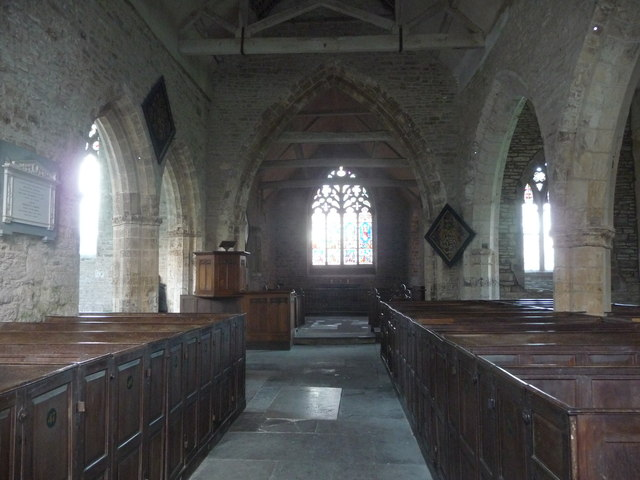 Inside the old church at Richards Castle