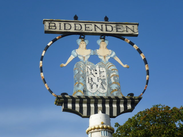 Close up of the village sign at Biddenden