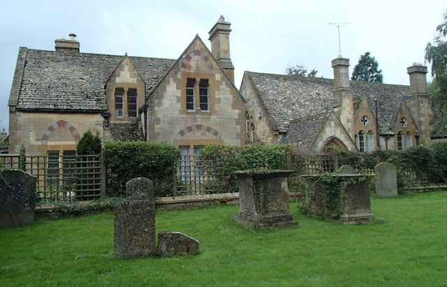 Churchyard and former school, Winchcombe