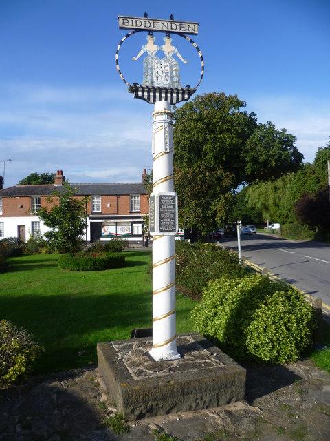 The village sign at Biddenden