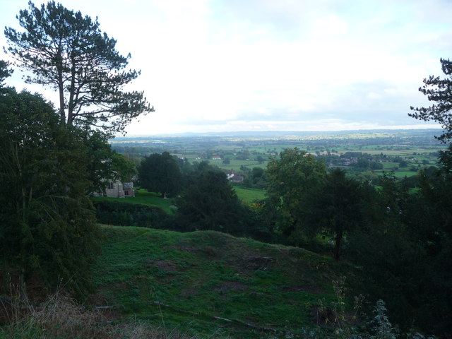 View eastwards from Richards Castle motte