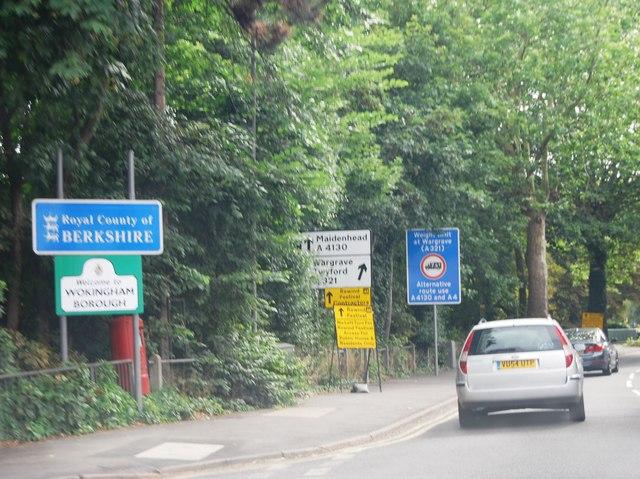 Entering Berkshire, A4130