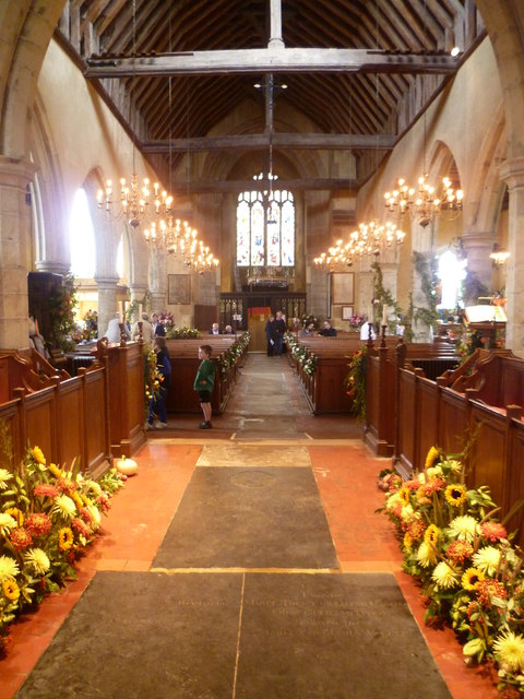 All Saints Church, Biddenden decorated for its Flower Festival