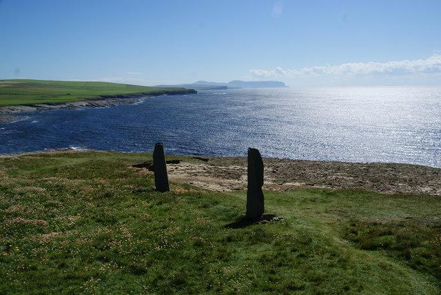 Standing stones above Marwick Bay