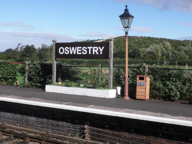Platform 2, Oswestry Railway Station?