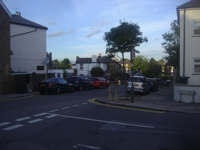 Church Lane from the junction of Leslie Road