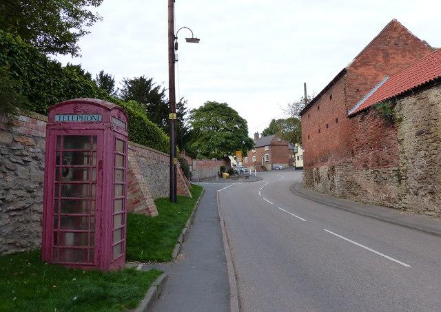 Telephone box along Lady Gate