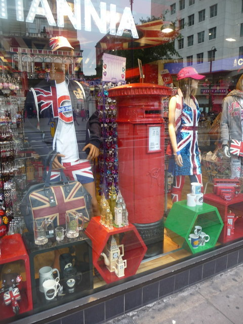 London: a postbox shop-window display