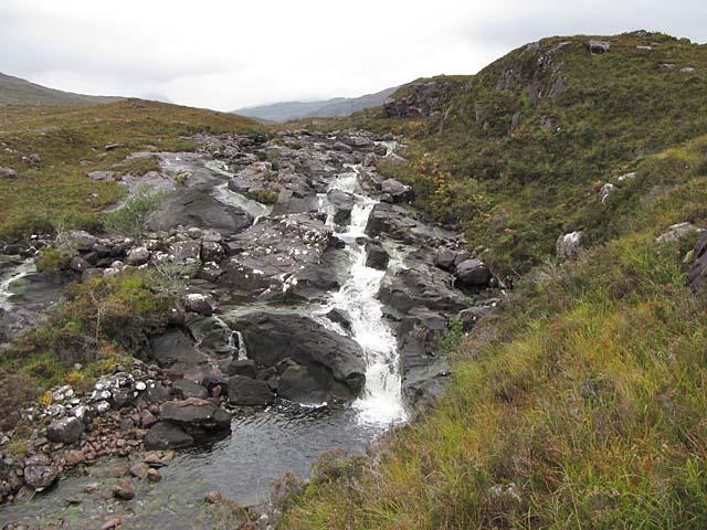 Waterfall on the Abhainn Thrail, Torridon