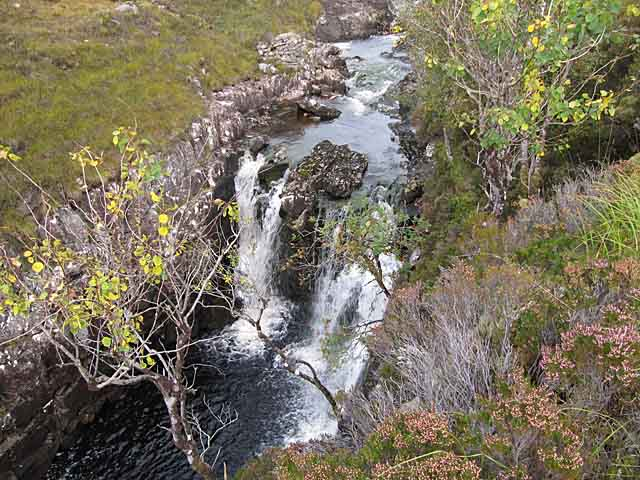 Waterfall on the Abhainn Thrail, Torridon
