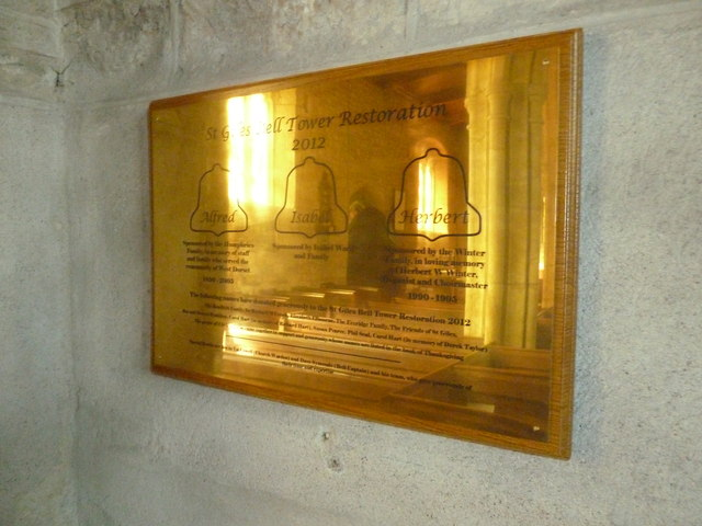 St Giles, Chideock: 2012 tower restoration commemorated