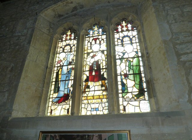 St Giles, Chideock: stained glass window (A)