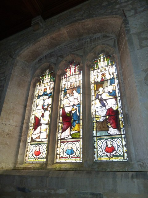 St Giles, Chideock: stained glass window (C)