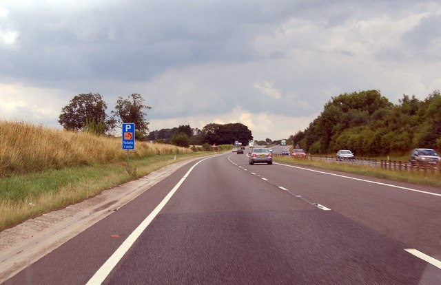 A417 1 mile to Parking and Toilets
