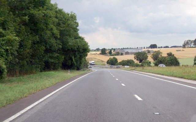 A417 towards Highgate Farm
