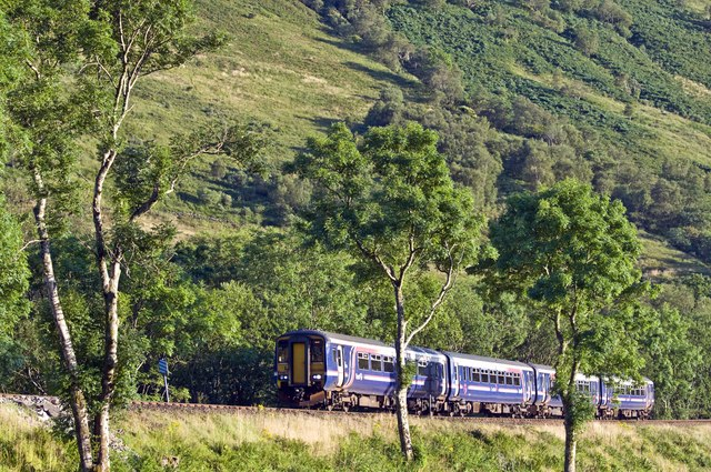Train south of Arrochar and Tarbet Station