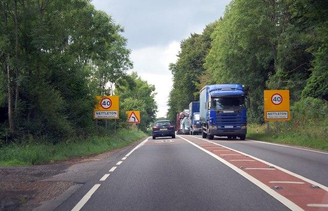 A417 entering Nettleton