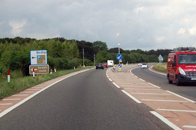 A417 junction to Birdlip ahead