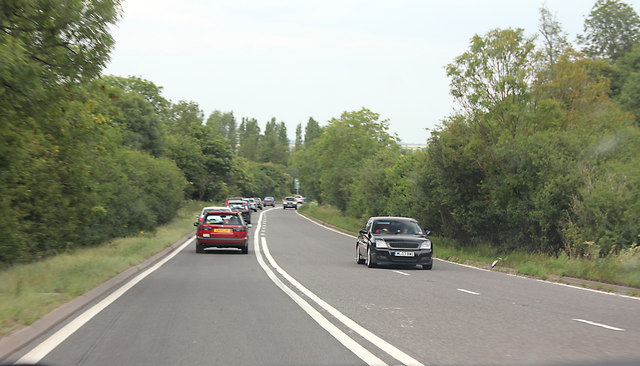 A46 just south of Colston Gate Cotgrove before opening of the dual carriageway