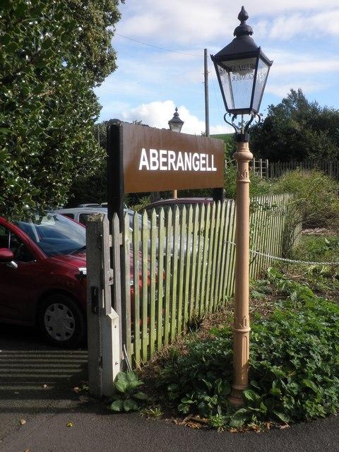 Aberangell railway station?
