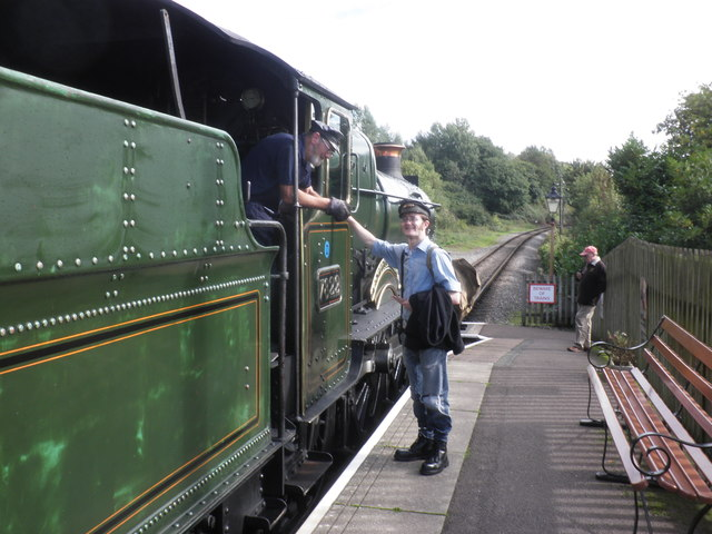 Foxcote Manor prepares to leave with a train for Bishops Lydeard