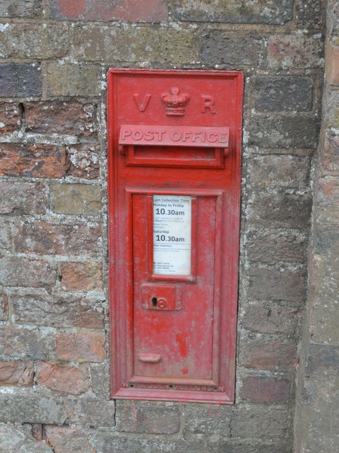 Victorian Postbox at High Hall Farm