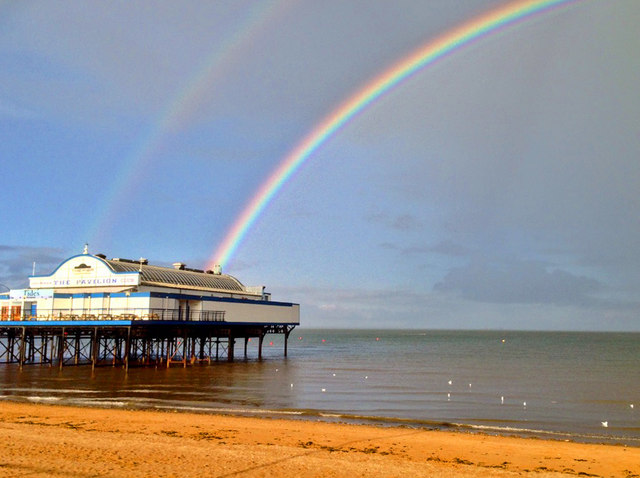 Double rainbow over the pier at Cleethorpes