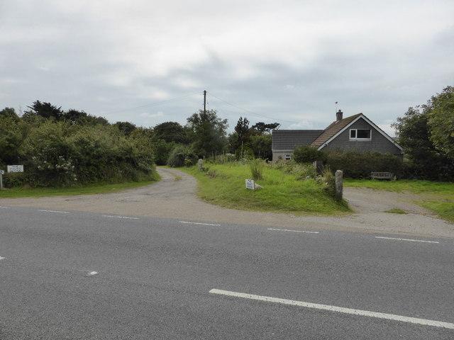 The B3311 near Cripplesease engine house