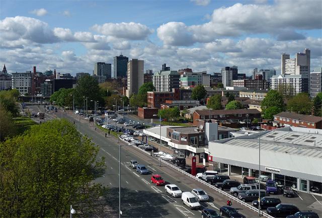 View from Upper Brook Street, Manchester