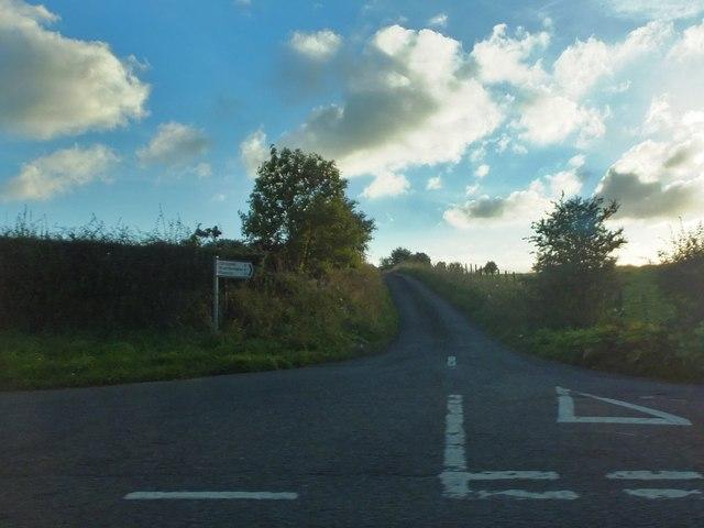 Minor road to Plashetts, Great Bavington and Carrycoats