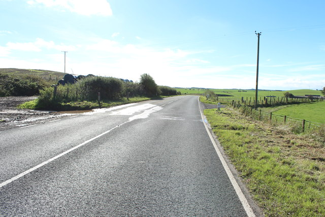 A751 leading to the A75 Towards Castle Kennedy