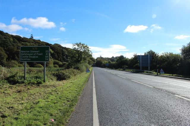 A75(T) near Castle Kennedy