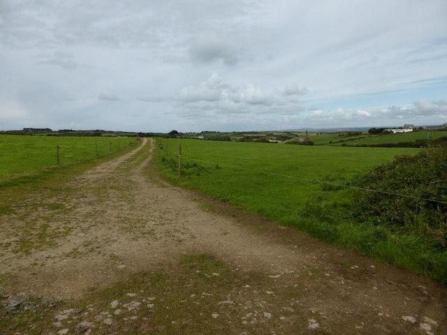 Farm track near Brunnion