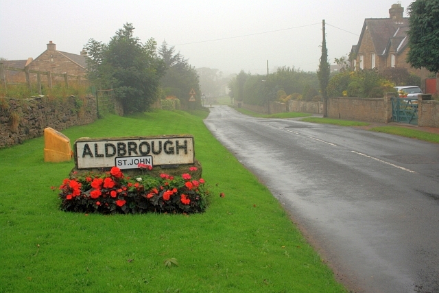 Approaching Aldbrough St. John