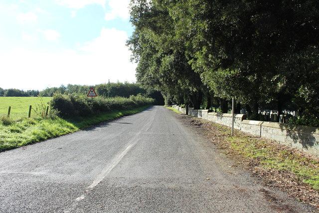 Road passing Inch Parish Church