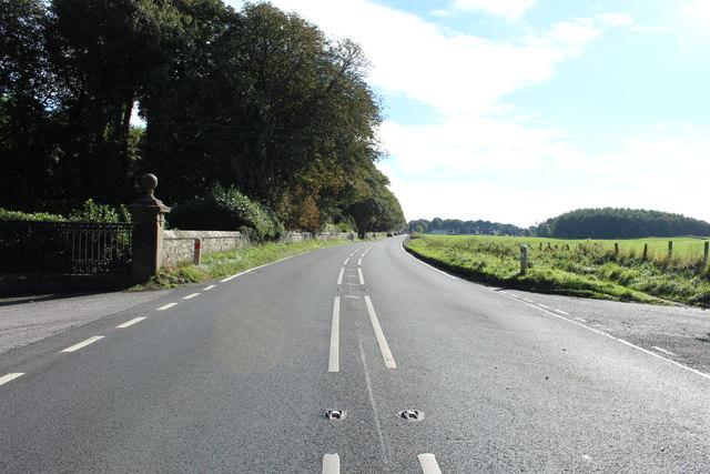 Road to Castle Kennedy near Inch Church