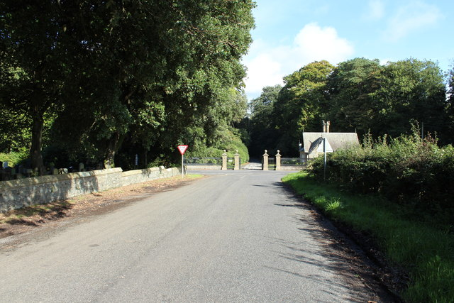 Road to the A75 at Inch Parish Church
