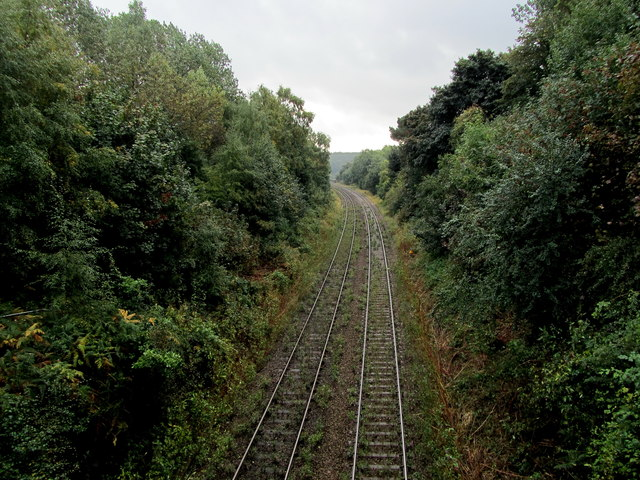 Railway Lines heading South towards Crimple Viaduct